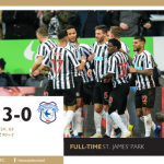 Match Report – Newcastle United 3, Cardiff City 0